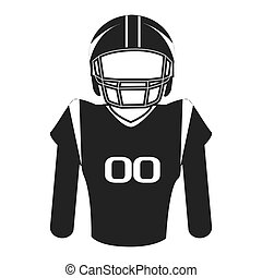 silhouette player football american isolated