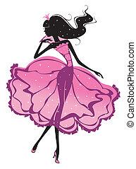 silhouette, princesse