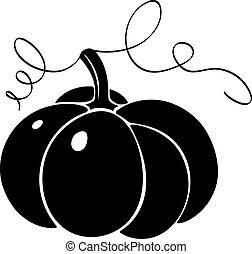 silhouette, pumpkin.