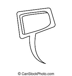 silhouette relief square dialog box design vector...