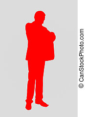 silhouette, rood