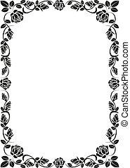 rose frame - silhouette rose frame