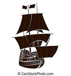 Silhouette sailboat