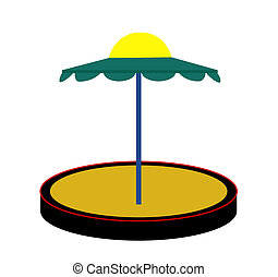 Silhouette Sandbox on White Background. Vector Illustration.