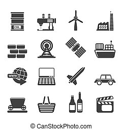 Business and industry icons - Silhouette Simple Business and...