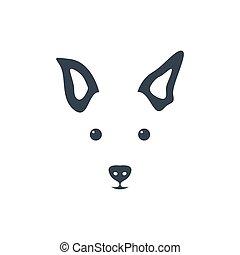 Silhouette simple head dog.