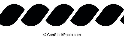 silhouette, simple, seamless, illustration, vecteur, noir, rope.