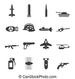 Silhouette Simple weapon icons - Silhouette Simple weapon,...