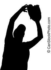 Silhouette Softball