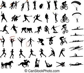 silhouette, sport, collezione