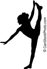 Silhouette sport dance - Gymnastics