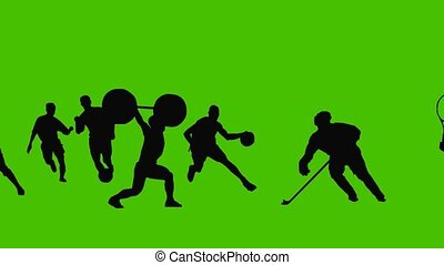 silhouette, sports