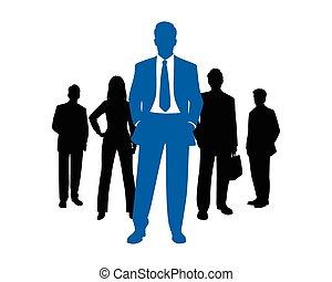 silhouette, squadra affari