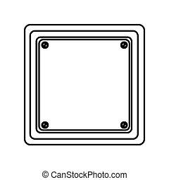 silhouette square shape traffic sign icon