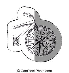silhouette sticker medium part bicycle with pedals
