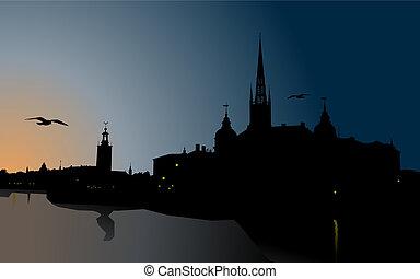 silhouette, stockholm