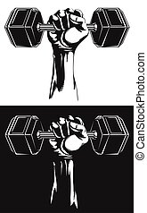 Silhouette Strong Hand Fixed Hex Dumbbells