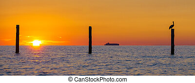 Silhouette sunrise on the Chesapeake Bay - Sunrise on the...