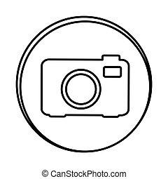 silhouette symbol camera icon