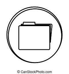 silhouette symbol file icon