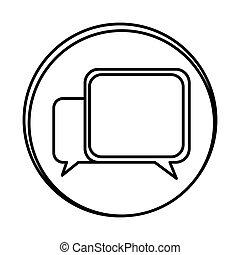 silhouette symbol square chat bubbles icon
