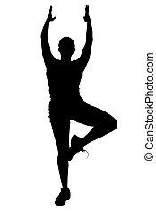 silhouette, tänzer
