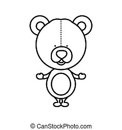 silhouette teddy bear toy icon