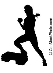 Silhouette Teen - Silhouette over white with clipping path. ...
