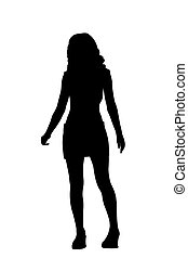 silhouette teen with miniskirt