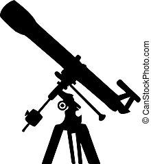 silhouette, teleskop