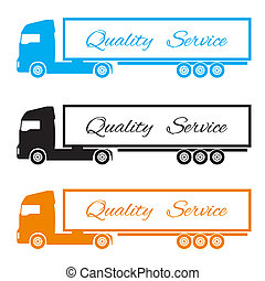silhouette three trucks to deliver the goods - silhouette 3...