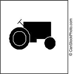 silhouette, tracteur