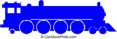 silhouette, train