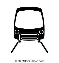 silhouette tram travel public transport urban