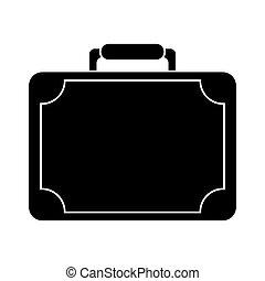 silhouette travel suitcase modern style equipment vector illustration eps 10