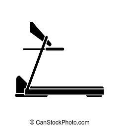 silhouette treadmill machine sport fitness