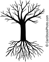 Silhouette tree without leaves