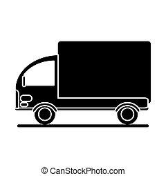 silhouette truck mini delivery cargo