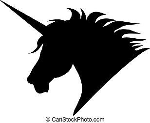 silhouette, unicorno