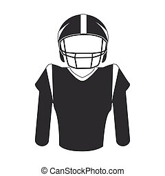 silhouette uniform american football player vector...