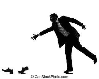 silhouette uomo affari