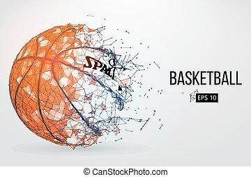 silhouette, vecteur, ball., basket-ball, illustration