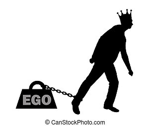 Silhouette vector big weight in the form of an ego is ...