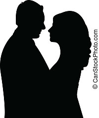 silhouette vector of a couple
