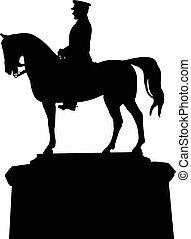silhouette vector of the ataturk statue