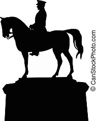 silhouette vector of the ataturk statue