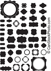 Silhouette Vector set of 50 frames