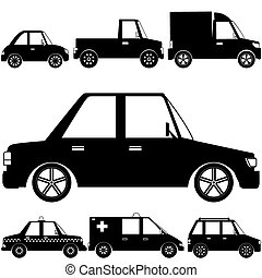 Silhouette vehicle symbol