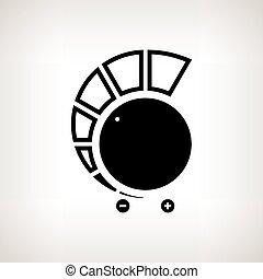 Silhouette volume control on a light background, vector illustration
