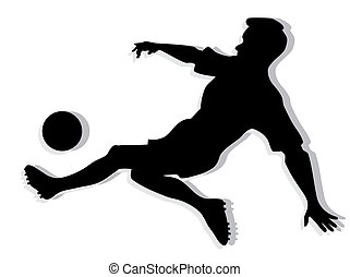 Spieler Silhouette Fussball Schwarz 10 Silhouette Eps